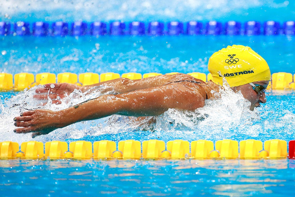 on Day 2 of the Rio 2016 Olympic Games at the Olympic Aquatics Stadium on August 7, 2016 in Rio de Janeiro, Brazil.